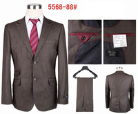 Men's fashion suit for business brand wedding dress suit (coat+pants) S-4XL