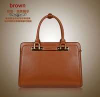 2013 New arrival GENUINE LEATHER lady handbag shoulder bag fashion briefcase Free Shipping BB0501