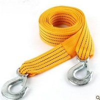 Free shipping trailer rope trailer belt 3.0 meters trailer hook Car Tow Rope Strap/Belt, Towing Ropes Real materials