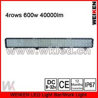 4rows waterproof IP67 52'' 600w 40000lumen off road ATV UTV SUV led light bar