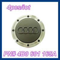 4pcs/lot  4B0601165A 148mm Wheel Center Caps for A6 C5 Cars,#4B0 601 165A Car Emblems Free Shipping
