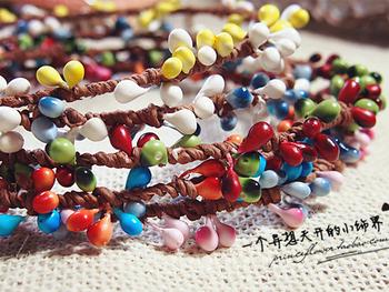 Handmade . honey small berries lucky rainbow colored berries hair bands hair band hair accessory