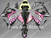 high quality pink yellow black for YAMAHA YZF-R6 04 05 04-05 YZF R6 2004 2005 YZFR6 2004-2005 ABS fairing kit