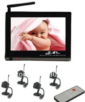 7 Inch Wireless Receiver / Baby Monitor with 4x 1/3 Inch CMOS Wireless Cameras