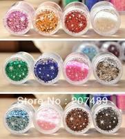 drop shipping 16 Colors option Flocking bling shiny Powder Manicure Neon Nail Art Polish Nail Varnish art decorations