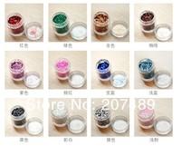 16 Colors option Flocking bling shiny Powder Manicure Neon Nail Art Polish Nail Varnish art decorations wholesale