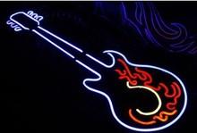 Combination styles waterproof Guitar beer Rock Music bar neon sign decorative lights 70cm*30cm(China (Mainland))