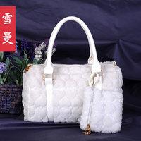 2013 spring fashion plush bag one shoulder cross-body handbag female bags women's bag