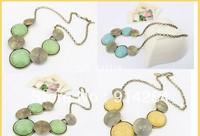Wholesale 12pcs New Fashion Modern Art Bead Bronze Necklaces     free shipping