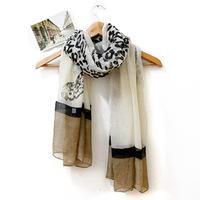 Popular scarf broadened 2013 women's autumn and winter oversized bali yarn leopard print scarf white