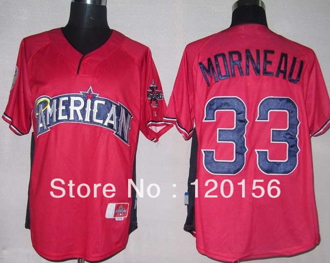 2013 Minnesota Twins 33 Justin Morneau Red Baseball Jerseys Embroidered Logo(China (Mainland))