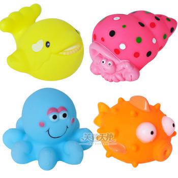 Baby bath toys small animal cartoon car traffic tools beastkind 0.1