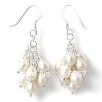 Beautiful white pearl grape earring XC74Fashion jewelry