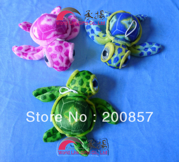 Special offer mini stuffed big eyes turtle toys baby(China (Mainland))