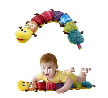 Free shipping!Musical Inchworm Educational Children Toys Music Stuffed Plush Baby Toys~~best choice for children
