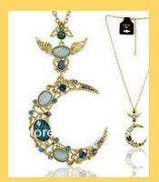 Wholesale 12pcs New Fashion Prom Modern Beautiful Charm Moon Beads Necklaces     free shipping
