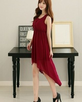 summer long skirt with  wine red colour