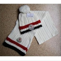 Men and women in winter to keep warm wool scarf hat suit