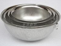 Thickening 304 stainless steel drain basket vegetables basket fruit basket water 4