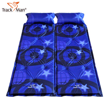 Unbelievable! Trackman automatic inflatable single moisture-proof pad camping mat patchwork belt  Free Shipping