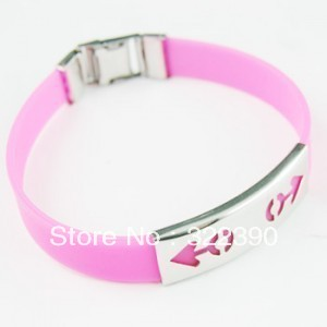 2013 fanshion new decorate Trend jewelry titanium silica gel bracelet strap hand ring bracelet male women&#39;s(China (Mainland))