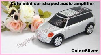 40pcs SD-A9 original portable MP3 speaker syestem, support USB/TF card,FM radio,LED dislay ,car shaped speaker,free shipping