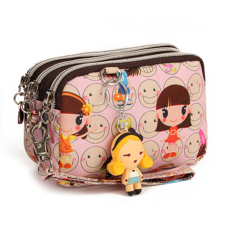 Female bags 2013 HARAJUKU doll casual waterproof nylon cotton prints cartoon day clutch(China (Mainland))