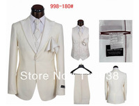 new design men fashion 5 pieces in one set wedding suits