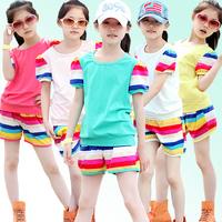 Children's clothing female child spring 2013 female child set summer female big boy child twinset