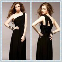 fashion evening dress formal  long design black oblique