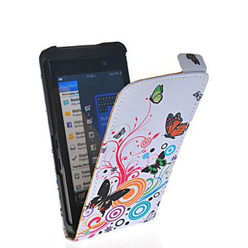 Sleek butterfly style leather flip pouch case cover FOR Blackberry Z10 London, Surfboard, L-Series, L10 22