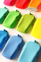 68 5 candy color silica gel frog bag storage bag coin purse coin case  for iphone   mobile phone bag