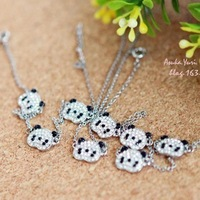 Accessories rhinestone pendant necklace female short design chain fashion hangings