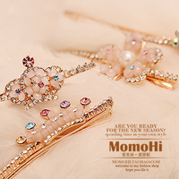 Sweet butterfly hair accessory rhinestone fringe side-knotted clip hairpin hair flower clip maker hair pin