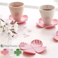 Free Shipping Creative Three-dimensional 3D Flower Anti-scald Silicone Coaster Coffee Cup Pad Non-slip Table Mat Tea Ware