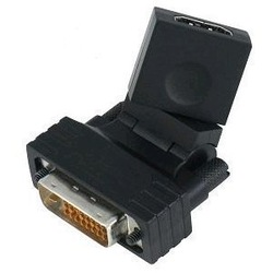 24 1 DVI Male to HDMI Female 360 Degree Rotating Swivel Adapter Video Card HDTV(China (Mainland))
