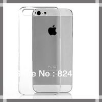 Transparent clear Case for iPhone 5,Hard Crystal Clear cover for iphone 5S iphone5 5th 5g 100pcs/lot