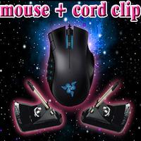 Orignal Razer Naga Gaming Mouse+Mouse bungee in black, Free & Fast Shipping, 5600dpi Razer Precision 3.5G Laser Sensor.