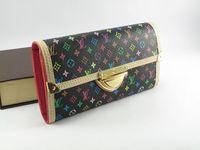 FREE SHIPPING! Medium-long wallet quality female wallet l female bags 4