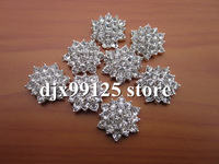 Free Shipping40pcs/lot 15mm rhinestone Simplicity Large Button,Bling stone Button Alloy Metal Buttons Flat Back hair accessories