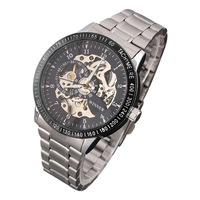 Men's watch Mechanical Hand Wind Movement Hollow Watches Sports Men full steel watch Quartz wristwatch Dropship watch