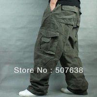 wholesale/retail Men's plus size casual loose pants outdoor overalls cargo pants hiphop fat pants xxxxxl