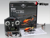 Free Shipping WL Toys V911 2.4G 4CH Single Blade Gyro RC MINI Outdoor Helicopter With LCD and 2 Batteries with Color box