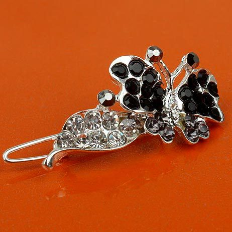 Min.order is 10USD,Free shipping Elegant Hair Accessories Alloy + Rhinestone HAIR PIN [1 of 6 products ](China (Mainland))