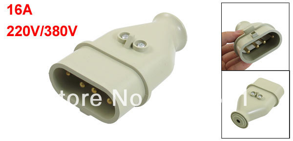 16A 220V/380V 3P+E 5 IP44 Panel Industrial Site Plug ST-164P(China (Mainland))