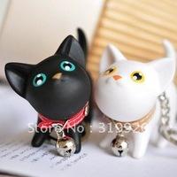 Frist shop Cat women's lovers keychain key chain key ring bag gift Free shipping 8pcs/lot
