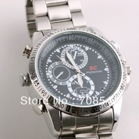 Silver 4GB/8GB WaterProof Wrist Watch HD Hidden video Camera DV, Free Shipping
