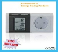 Free Shipping Plug in power meter EU standard  LCD Digital Energy Meter Power Meter,Wattmeter ,Voltage meter,amper meter PM301E