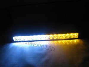 16 Led Car Boat Truck Strobe Lights Bar White/Amber(China (Mainland))
