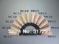 Free shipping hot good  Makeup Liquid Foundation spf 15 40ml ! (100 pcs)
